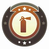 Fire extinguisher or crisis icon