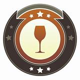 Wine or bar icon on imperial button