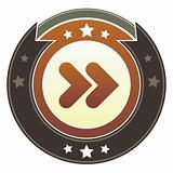 Forward media icon on imperial button