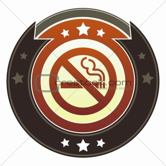 No smoking icon on imperial button