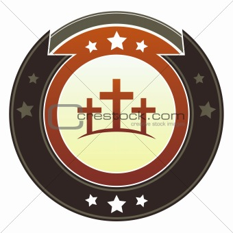 Calgary cross icon on imperial button