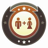 Couple icon on imperial button