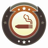 Cigar icon on imperial button