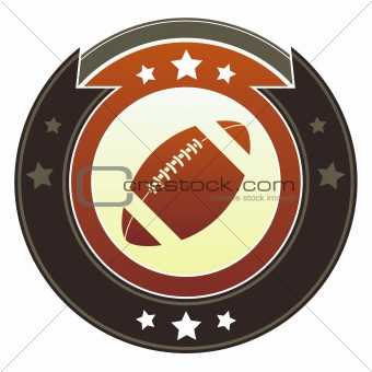 American football sports icon on imperial button