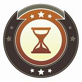 Hourglass icon on imperial button