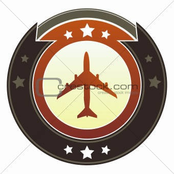 Airplane icon on imperial button