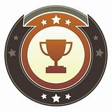 Trophy icon on imperial button