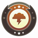 Storm cloud icon on imperial button