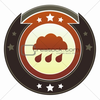 Rain cloud icon on imperial button