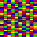 Glowing rectangles in primary colors
