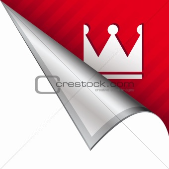 Crown icon on peeling corner tab