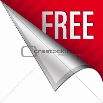 Free icon on peeling corner tab