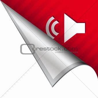 Volume icon on peeling corner tab