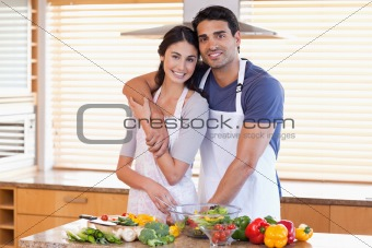 Charming young couple posing