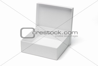 Open empty white gift box