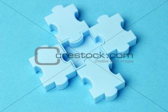 Blue jigsaw puzzles