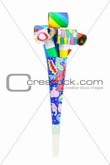 Multicolor party blowers and horn