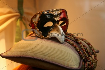 Mask on the pillow