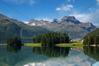 Alps in Switzerland - Silvaplana - St. Moritz
