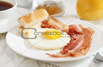 Tasty breakfast in the morning