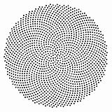 Golden Ratio Fibonacci Sequence Mathematically Generated Dots