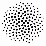 Computer Generated Black Golden Ratio Dot Pattern