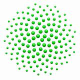 3d Generated Golden Ratio Dot Pattern Green