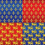 vector set of heraldic seamless background