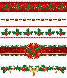 Set of Christmas borders