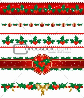 Set of Christmas borders