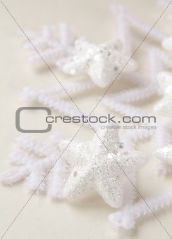 Snowflake photo on a white background