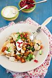 Chana chat salad