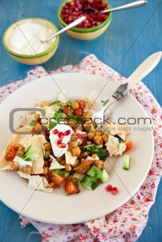 Chana chat salad