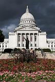 State Capitol before the storm