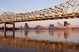 Yellow bridge in Louisville