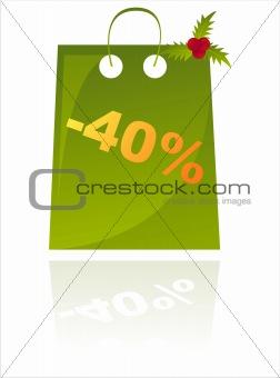 green christmas sale bag