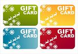 colorful christmas gift cards