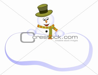 Card with funny snowman