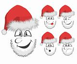 Fun Santa's faces