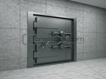 Banking metallic door