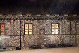 Windows of Edinburgh Castle At Night