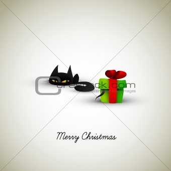 Kitten Excited About Present | Great Greeting for Pet Owners