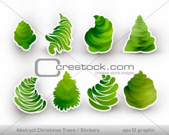 Abstract Christmas Trees | Stickers