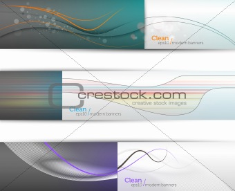 Clean Modern EPS10 Banners   960px wide each