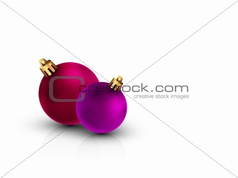 3D Christmas Balls on Clean White Background