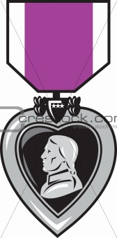 military medal of bravery valor purple heart