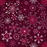 Christmas purple pattern (seamless)