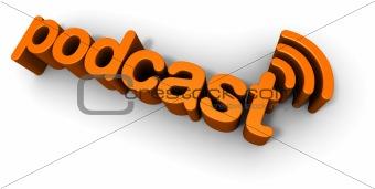 Podcast 3D Text Design