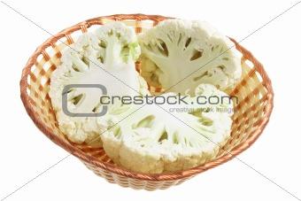 Cauliflower in Basket