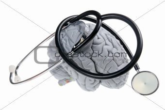 Brain and Stethoscope